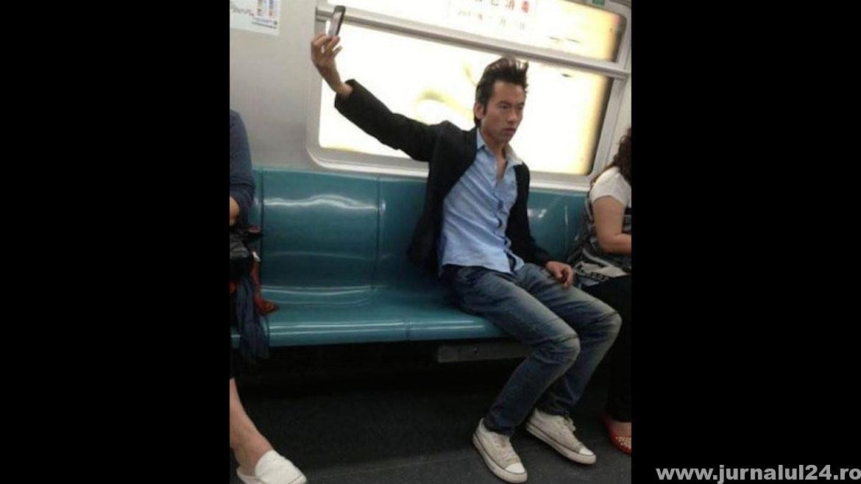 selfie ratat in metrou