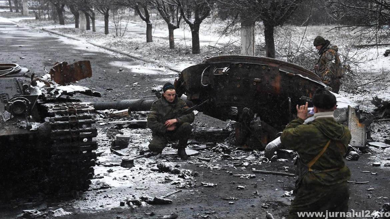 tanc distrus in ucraina