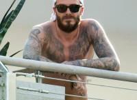 David Beckham topless 1