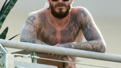 David Beckham topless 1
