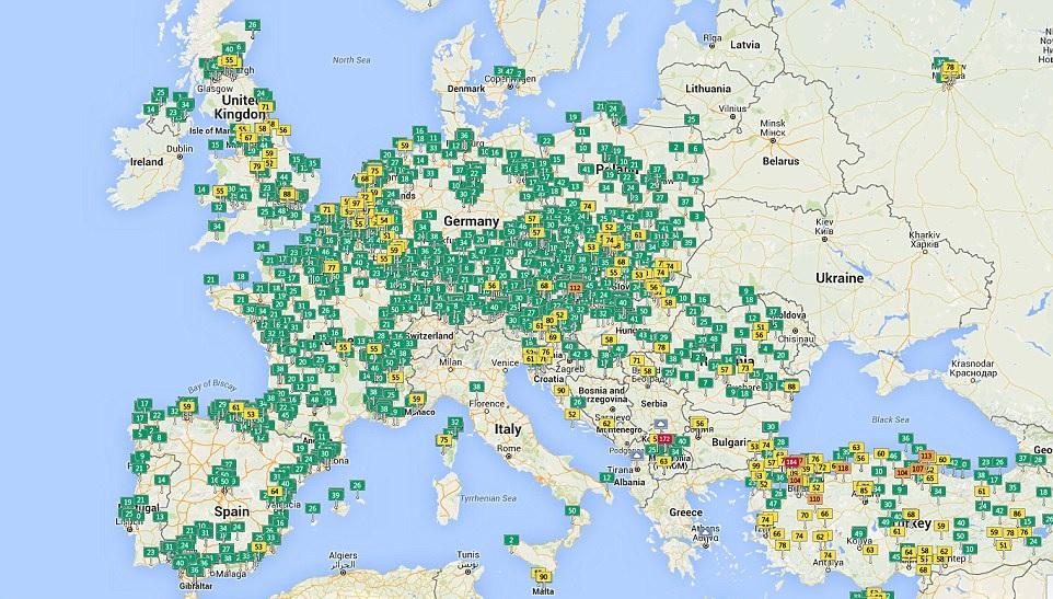 Harta mondiala a poluarii