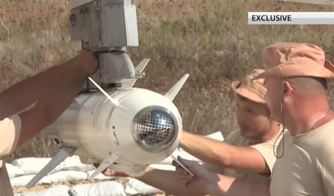 racheta rusia in siria