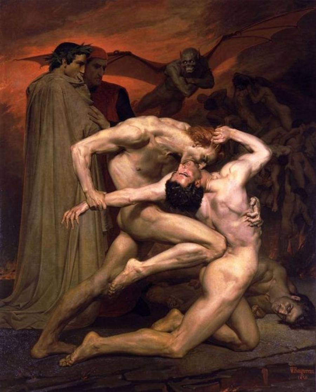 Dante și Virgil în iad