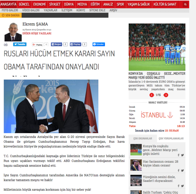 obama si erdogan intelegere