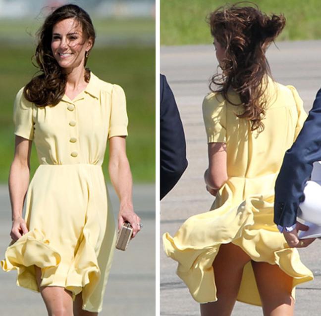 Kate Middleton fusta ridicata
