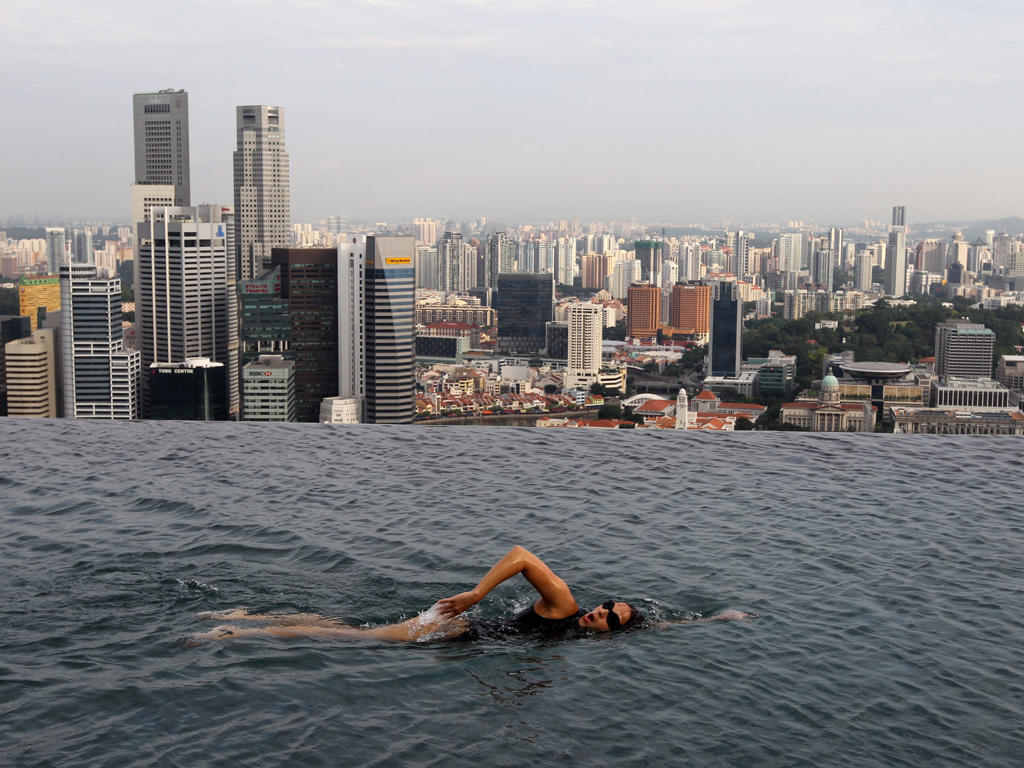 Marina Bay Sands Skypark piscina