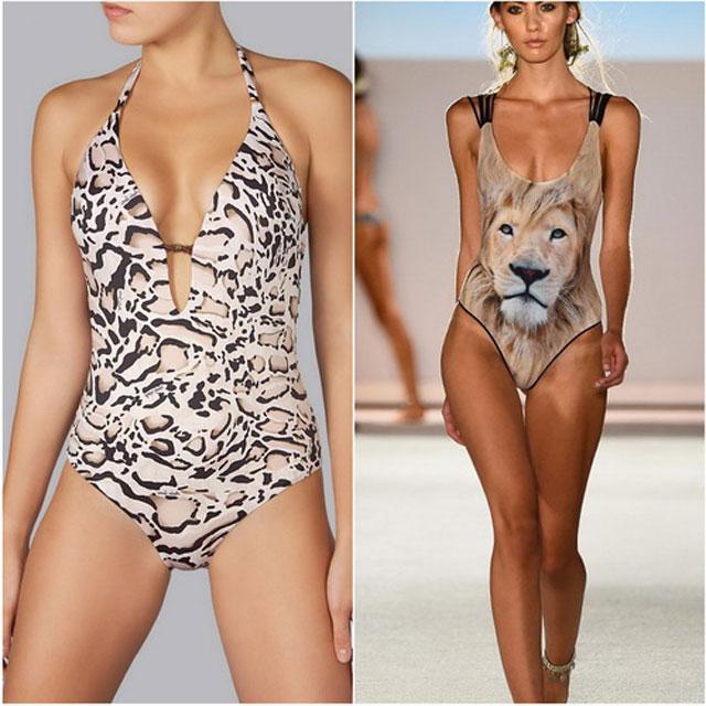 costume de baie cu animal print